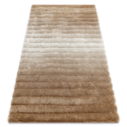 модерен килим FLIM 007-B2 рошав, райе - structural бежов