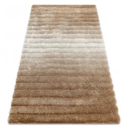 Modern shaggy carpet FLIM 007-B2 Stripes - structural beige