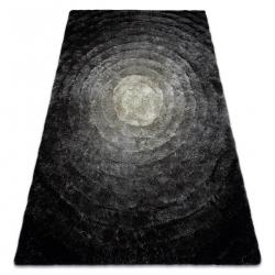 Dywan shaggy FLIM 008-B2 nowoczesny, Koła kręgi - Strukturalny, szary