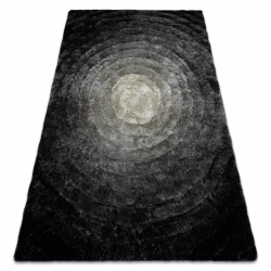 Modern shaggy carpet FLIM 008-B2 Circles - structural grey