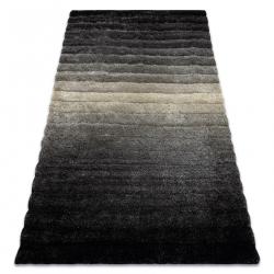модерен килим FLIM 007-B6 рошав, райе - structural сив