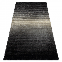 Modern shaggy carpet FLIM 007-B6 Stripes - structural grey