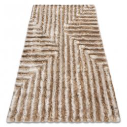Modern shaggy carpet FLIM 010-B1 Maze - structural beige