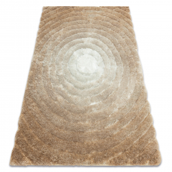 модерен килим FLIM 008-B1 рошав, кръгове - structural бежов