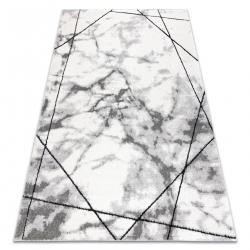 модерен килим COZY Lina, геометричен, мрамор structural две нива на руно сив
