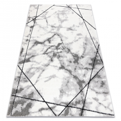 Modern carpet COZY Lina, geometric, marble - structural two levels of fleece grey