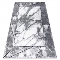 Modern carpet COZY Cadre, frame, marble - structural two levels of fleece grey