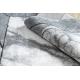 Dywan nowoczesny COZY Cadre, ramka, marmur - Strukturalny, dwa poziomy runa szary