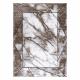 Modern COZY szőnyeg Cadre, Keret, Üveggolyó - Structural két szintű gyapjú barna