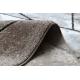 Dywan nowoczesny COZY Cadre, ramka, marmur - Strukturalny, dwa poziomy runa brązowy