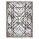 Modern COZY szőnyeg Tico, Geometriai - Structural két szintű gyapjú barna