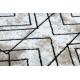 Dywan nowoczesny COZY Tico, geometryczny - Strukturalny, dwa poziomy runa brązowy