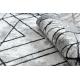 Modern COZY szőnyeg Tico, Geometriai - Structural két szintű gyapjú szürke