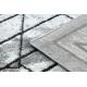 Dywan nowoczesny COZY Tico, geometryczny - Strukturalny, dwa poziomy runa szary