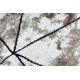Modern COZY szőnyeg Polygons Kör, Geometriai, háromszögek - Structural két szintű gyapjú barna