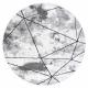 Dywan nowoczesny COZY Polygons Koło, geometryczny, trójkąty - Strukturalny, dwa poziomy runa szary