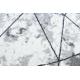 Modern COZY szőnyeg Polygons Kör, Geometriai, háromszögek - Structural két szintű gyapjú szürke