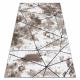 Modern COZY szőnyeg Polygons, Geometriai, háromszögek - Structural két szintű gyapjú barna