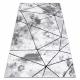 Dywan nowoczesny COZY Polygons, geometryczny, trójkąty - Strukturalny, dwa poziomy runa szary