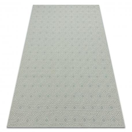 Teppich SAMPLE 20944A Diamanten blau / beige