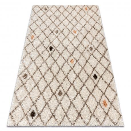 Teppich SAMPLE ESTE Gitter shaggy beige