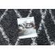 Koberec SAMPLE Harmony 3479A laťková mříž shaggy šedá / krém