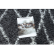 Teppich SAMPLE Harmony 3479A Gitter shaggy grau / creme