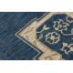 TEPPICH SISAL SAMPLE T59 SL167 Rosette blue / beige