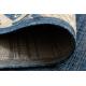 Килим шнуровий SIZAL SAMPLE T59 SL167 розетка синій / бежевий