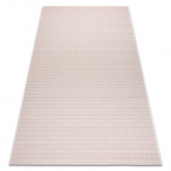 Sisal tapijt SISAL FLAT 48603/526 Geknoopt crème rozekleuring