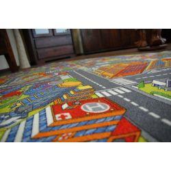 Passadeira carpete ESTRADAS BIG CITY cinzento