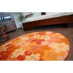 Alfombra infantil PUZLE anaranjado círculo