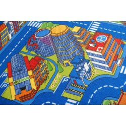 Kindertapijt BIG CITY blauw