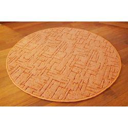 Kulatý koberec KASBAR, rudá