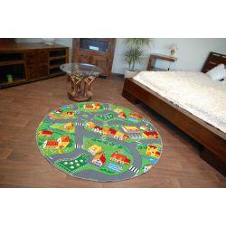 Dětský kulatý koberec LITTLE GOLIATH samet