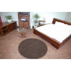 Kulatý koberec MISTRAL tmavě hnědý
