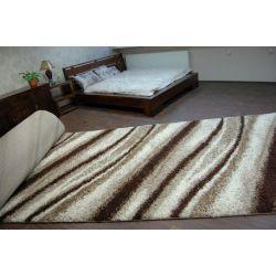 Vloerbedekking SHAGGY LONG 5cm patroon 2714 ivoor helder , beige