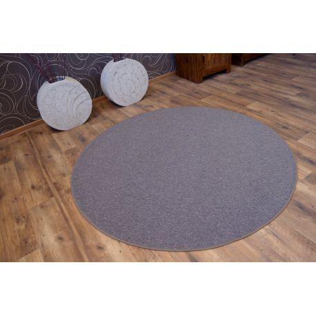 Kulatý koberec ASTRA, světle hnědý