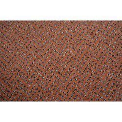 Fitted carpet VELOUR TECHNO STAR 140 terracotta