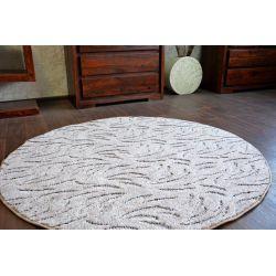 Carpet round IVANO brown