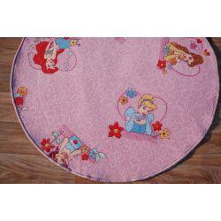 Tapete infantil redondo DISNEY PRINCESAScor de rosa