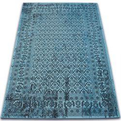 Carpet VINTAGE Flowers 22209/474 turquoise