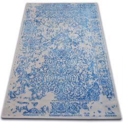 Carpet VINTAGE 22208/053 blue / grey classic rosette