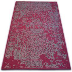 Vintage szőnyeg 22208/082 bordó / szürke klasszikus rozetta