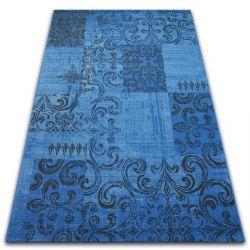 Covor Vintage 22215/073 albastru si gri peticire