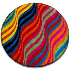 Tapis PEINT cercle - 1562 bleu