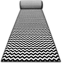 Alfombra de pasillo SKETCH F561 Zigzag negro/crema