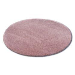 Tepih krug čupavi MICRO ružičasta