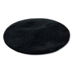 Matta cirkel SHAGGY MICRO svart