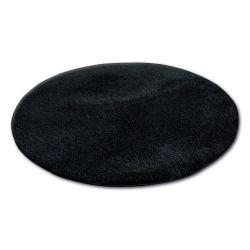 Tepih krug čupavi MICRO crno